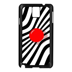 Abstract red ball Samsung Galaxy Note 3 N9005 Case (Black)
