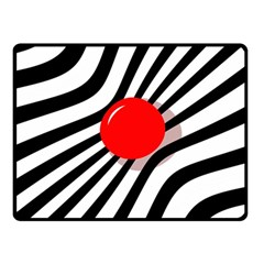 Abstract red ball Double Sided Fleece Blanket (Small)