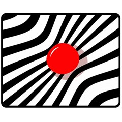 Abstract red ball Double Sided Fleece Blanket (Medium)