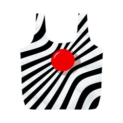 Abstract red ball Full Print Recycle Bags (M)