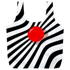 Abstract red ball Full Print Recycle Bags (L)