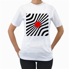 Abstract red ball Women s T-Shirt (White)