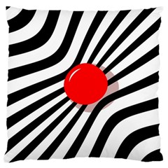 Abstract red ball Large Flano Cushion Case (One Side)