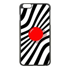 Abstract red ball Apple iPhone 6 Plus/6S Plus Black Enamel Case