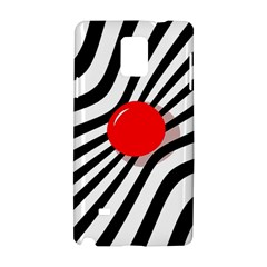Abstract red ball Samsung Galaxy Note 4 Hardshell Case