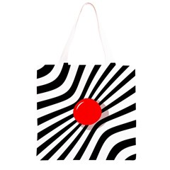 Abstract red ball Grocery Light Tote Bag