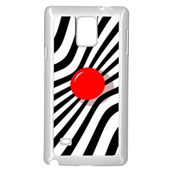 Abstract red ball Samsung Galaxy Note 4 Case (White)