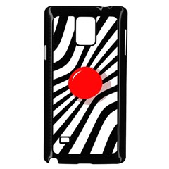 Abstract red ball Samsung Galaxy Note 4 Case (Black)