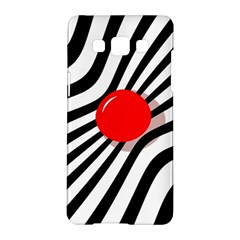 Abstract red ball Samsung Galaxy A5 Hardshell Case