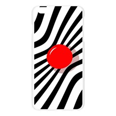 Abstract red ball Apple Seamless iPhone 6 Plus/6S Plus Case (Transparent)