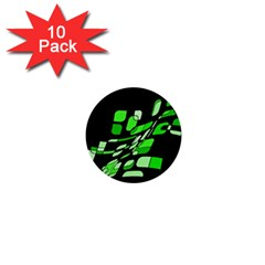 Green decorative abstraction 1  Mini Buttons (10 pack)