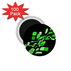 Green decorative abstraction 1.75  Magnets (100 pack)