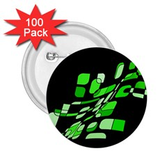 Green decorative abstraction 2.25  Buttons (100 pack)