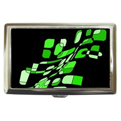 Green decorative abstraction Cigarette Money Cases