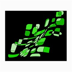 Green decorative abstraction Small Glasses Cloth