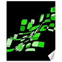 Green decorative abstraction Canvas 16  x 20