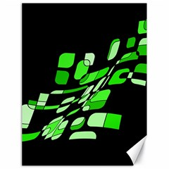 Green decorative abstraction Canvas 18  x 24
