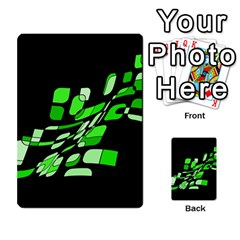 Green decorative abstraction Multi-purpose Cards (Rectangle)