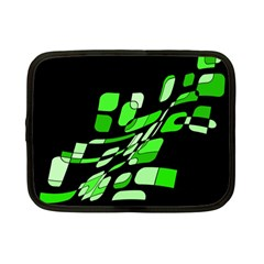 Green decorative abstraction Netbook Case (Small)