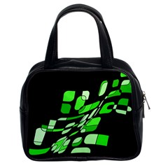 Green decorative abstraction Classic Handbags (2 Sides)