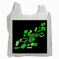 Green decorative abstraction Recycle Bag (One Side)