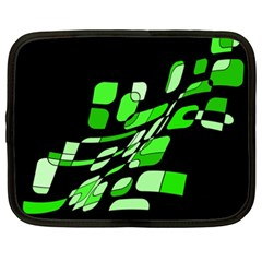 Green decorative abstraction Netbook Case (XXL)
