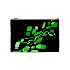 Green decorative abstraction Cosmetic Bag (Medium)