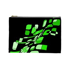 Green decorative abstraction Cosmetic Bag (Large)