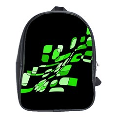 Green decorative abstraction School Bags(Large)