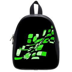 Green decorative abstraction School Bags (Small)