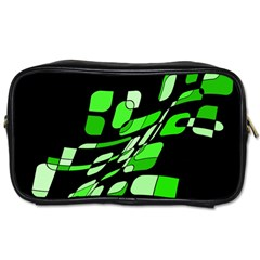 Green decorative abstraction Toiletries Bags