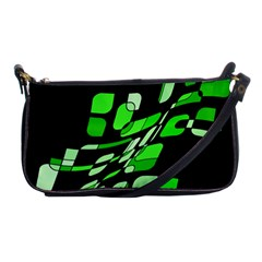 Green decorative abstraction Shoulder Clutch Bags