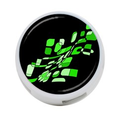 Green decorative abstraction 4-Port USB Hub (Two Sides)