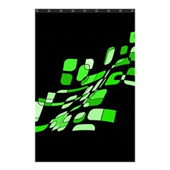 Green decorative abstraction Shower Curtain 48  x 72  (Small)