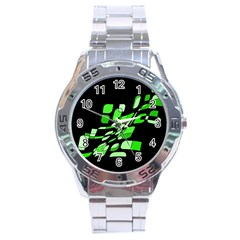Green decorative abstraction Stainless Steel Analogue Watch