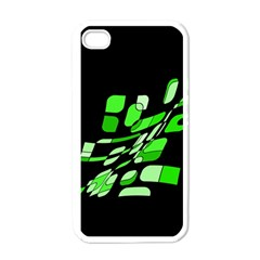 Green decorative abstraction Apple iPhone 4 Case (White)