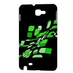 Green decorative abstraction Samsung Galaxy Note 1 Hardshell Case