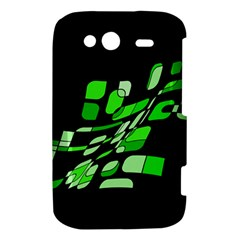 Green decorative abstraction HTC Wildfire S A510e Hardshell Case