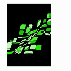 Green decorative abstraction Large Garden Flag (Two Sides)