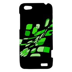 Green decorative abstraction HTC One V Hardshell Case