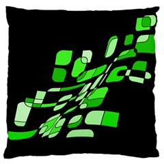 Green decorative abstraction Large Cushion Case (Two Sides)
