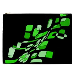 Green decorative abstraction Cosmetic Bag (XXL)