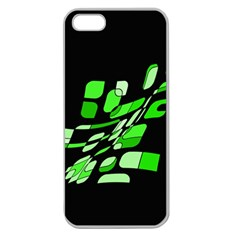 Green decorative abstraction Apple Seamless iPhone 5 Case (Clear)