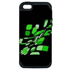Green decorative abstraction Apple iPhone 5 Hardshell Case (PC+Silicone)