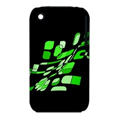 Green decorative abstraction Apple iPhone 3G/3GS Hardshell Case (PC+Silicone)