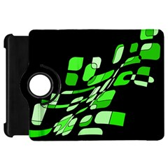 Green decorative abstraction Kindle Fire HD Flip 360 Case