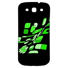 Green decorative abstraction Samsung Galaxy S3 S III Classic Hardshell Back Case