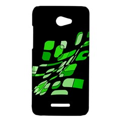 Green decorative abstraction HTC Butterfly X920E Hardshell Case