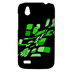 Green decorative abstraction HTC Desire V (T328W) Hardshell Case