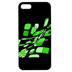 Green decorative abstraction Apple iPhone 5 Hardshell Case with Stand